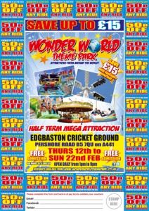 Edgbaston Cricket Wonder World Theme Park Offers